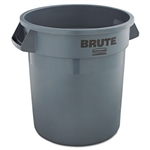 Brute Round Gray Container without Lid - 10 Gal.