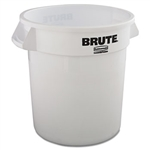 Brute Round White Container without Lid - 10 Gal.