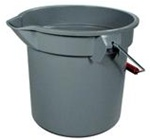 Brute Gray Round HDPE 11.25 in. L x 12 in. Dia Graduated Buckets