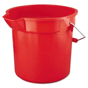 Brute Red Round HDPE 11.25 in. L x 12 in. Dia Graduated Buckets