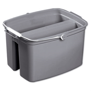 Gray Double Utility Pail - 13.9 in. x 10.1 in. x 14.6 in.