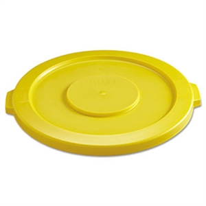 Round Yellow Lid for Brute 32 Gal. Container