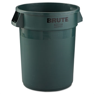 Round Brute Dark Green Container - 32 Gal.