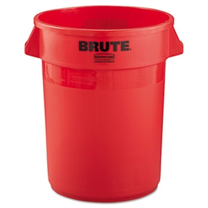Round Brute Red Container - 32 Gal.