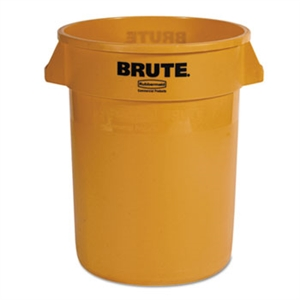 Round Brute Yellow Container - 32 Gal.