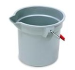 Brute Gray Round HDPE 10.25 in. L x 10.5 in. Dia Graduated Buckets