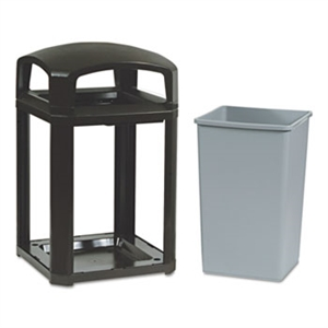 Landmark Series Classic Dome Top Sable Container - 35 Gal.