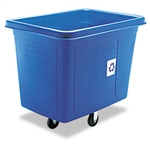Recycling Blue Rectangular Cube Truck - 500 lb.