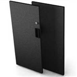 Black Locking Door Kit - 0.8 in. x 28 in. x 32.5 in.