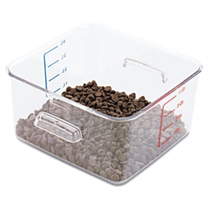 SpaceSaver Square Clear Container - 4 Qt.
