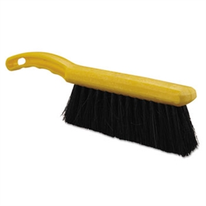 Tampico Fill Yellow Handle Countertop Black Brush - 12.5 in.