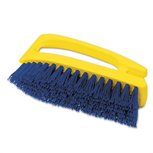 Iron Shaped Handle Cobalt Scrub Brush - 6 in.