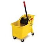 Tandem All-in-One Compact Design 31 qt Yellow Bucket and Wringer