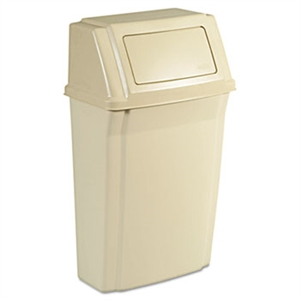 Slim Jim Wall Mounted Beige Container - 15 Gallon
