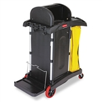 High Security Black Cleaning Cart - 48.2 in. x 22 in.