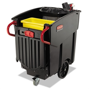 Mega Brute Black Mobile Waste Collector - 120 Gal.