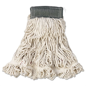 Web Foot Cotton Synthetic Medium White Wet Mop