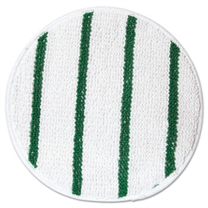 Low Profile Carpet White Bonnet with Green Scrub Strips