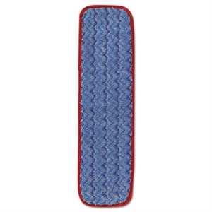 Microfiber Wet Floor Cleaning Red Pad - 18.5 in.