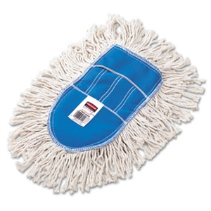 Wedge Cut End White Dust Mop Head