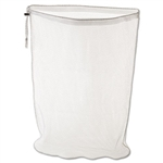 Laundry Net Synthetic White Mesh Bag with Closure - 24 in.