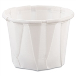 Treated Paper White Souffle Portion Cup - 0.75 oz.