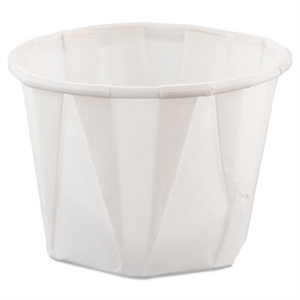 Treated Paper White Souffle Portion Cup - 1 oz.