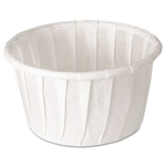 Treated Paper White Souffle Portion Cup - 1.25 oz.