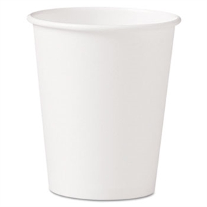 White Single Sided Paper Hot Drink Cup - 10 oz.