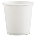 White Single Sided Paper Hot Drink Cup - 4 oz.