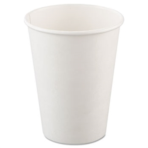 White Poly Paper Hot Cup - 12 oz.