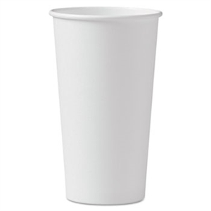 White Poly Paper Hot Cup - 20 oz.
