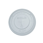 Straw Slot Plastic Cup Clear Lid