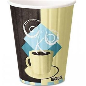 Duo Shield Tuscan Cafe Paper Hot Cup - 12 oz.