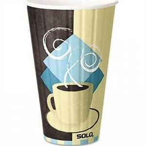 Duo Shield Tuscan Cafe Paper Hot Cup - 16 oz.