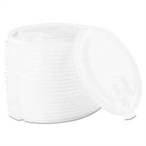 Liftback and Lock Tab White Lid for 16 oz. Cups