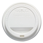 Traveler White Dome Lid for 12 oz. - 16 oz. Paper Hot Cups