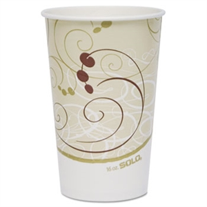 Symphony Double Sided Poly Paper Cold Cup - 16 oz.