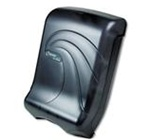 Oceans Ultrafold Present Multifold and C-Fold Translucent Black Pearl Towel Dispensers