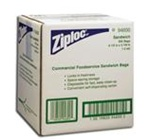 Ziploc Plastic Clear 1.2 mil Sandwich Bags in Dispensing Cartons