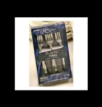 Reflections Plastic Medium Weight Silver Forks