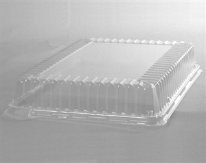 CaterLine Rectangle Catering Tray Dome Lid Clear - 14 in. x 10 in.