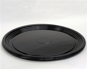 CaterLine Round Thermoformed Platter Black - 16 in.