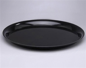 CheckMate Round Catering Tray with High Edge Black - 18 in.