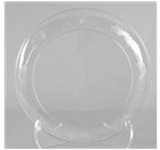 Designerware Dinner Plates, 7.5in. Dia, Round, Clear