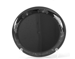 Designerware Black Plastic Plate - 7.5 in.