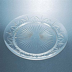 Clear Legacy 7.5 in. Plastic Plate