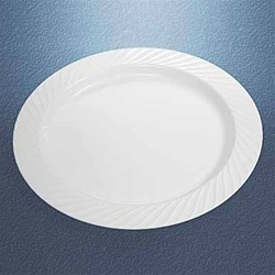 White Opulence 9 inch Plastic Plate