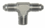 "-06 Tee with 1/4"" NPT in middle - Stainless"