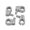 "Hose Mounting Clamps - Aluminum -1/4"" (set of 4)"